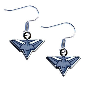 Essendon Bombers Earrings Official AFL Team Colours Logo Jewellery