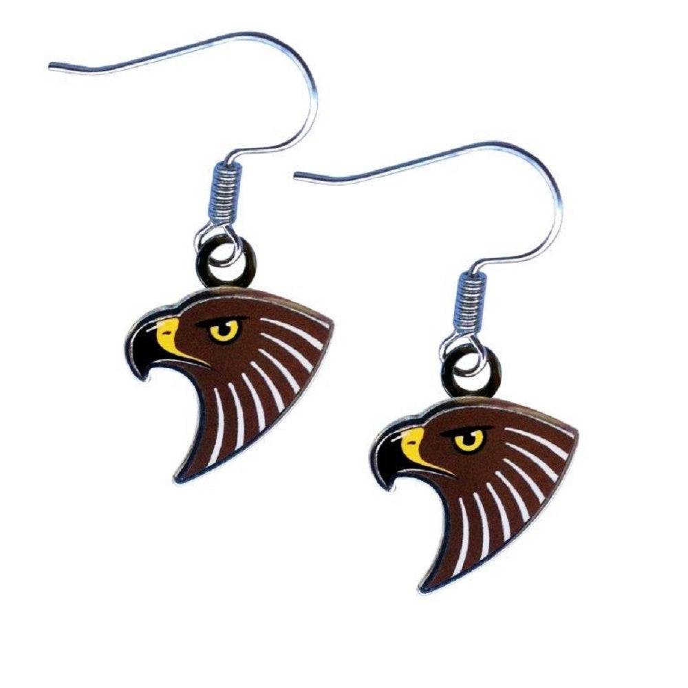 Hawthorn Hawks Earrings Official AFL Team Colours Logo Jewellery