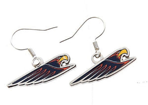 West Coast Eagles Earrings Official AFL Team Colours Logo Jewellery