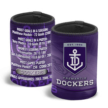 Load image into Gallery viewer, Fremantle Dockers Official AFL Stubby Holder Can Cooler Various