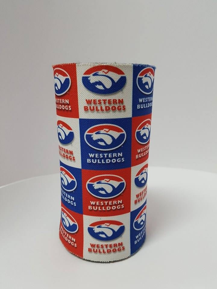 Western Bulldogs Official AFL Team Skinny Can Cooler Stubby Holder