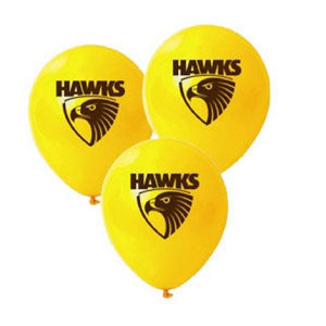 Hawthorn Hawks Official AFL Pkt 25 Balloons Double Sided Print