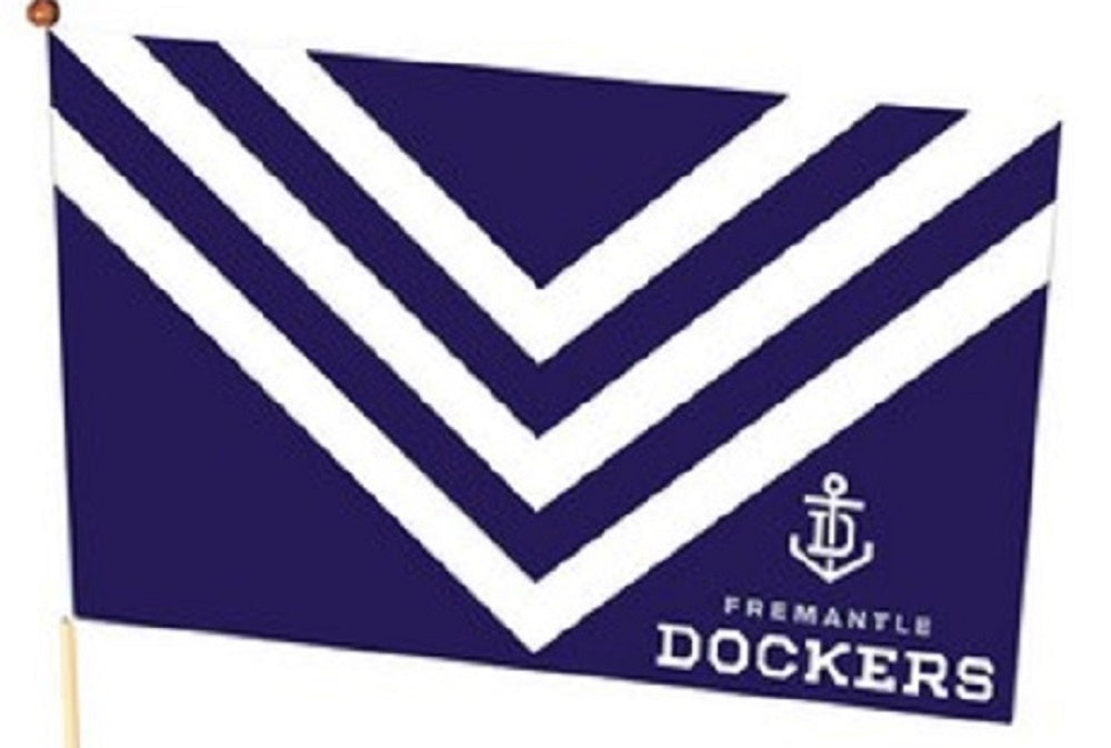 Fremantle Dockers Official AFL Team Logo Medium Supporter Flag 30cm x 48cm