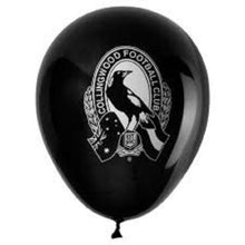 Load image into Gallery viewer, Collingwood Magpies Official AFL Pkt 25 Balloons Double Sided Print