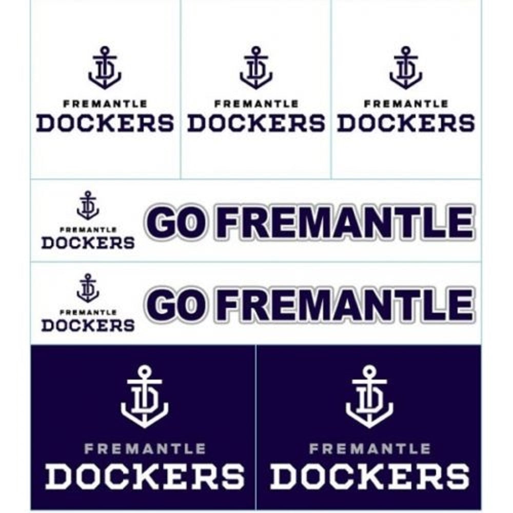 Fremantle Dockers Official AFL Logo Sticker Sheet