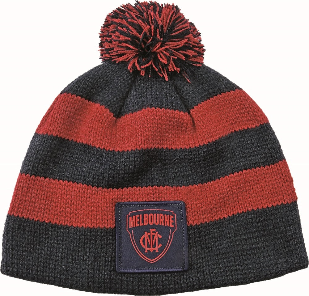 Melbourne Demons Official AFL Chunky Knit Baby Infant Beanie