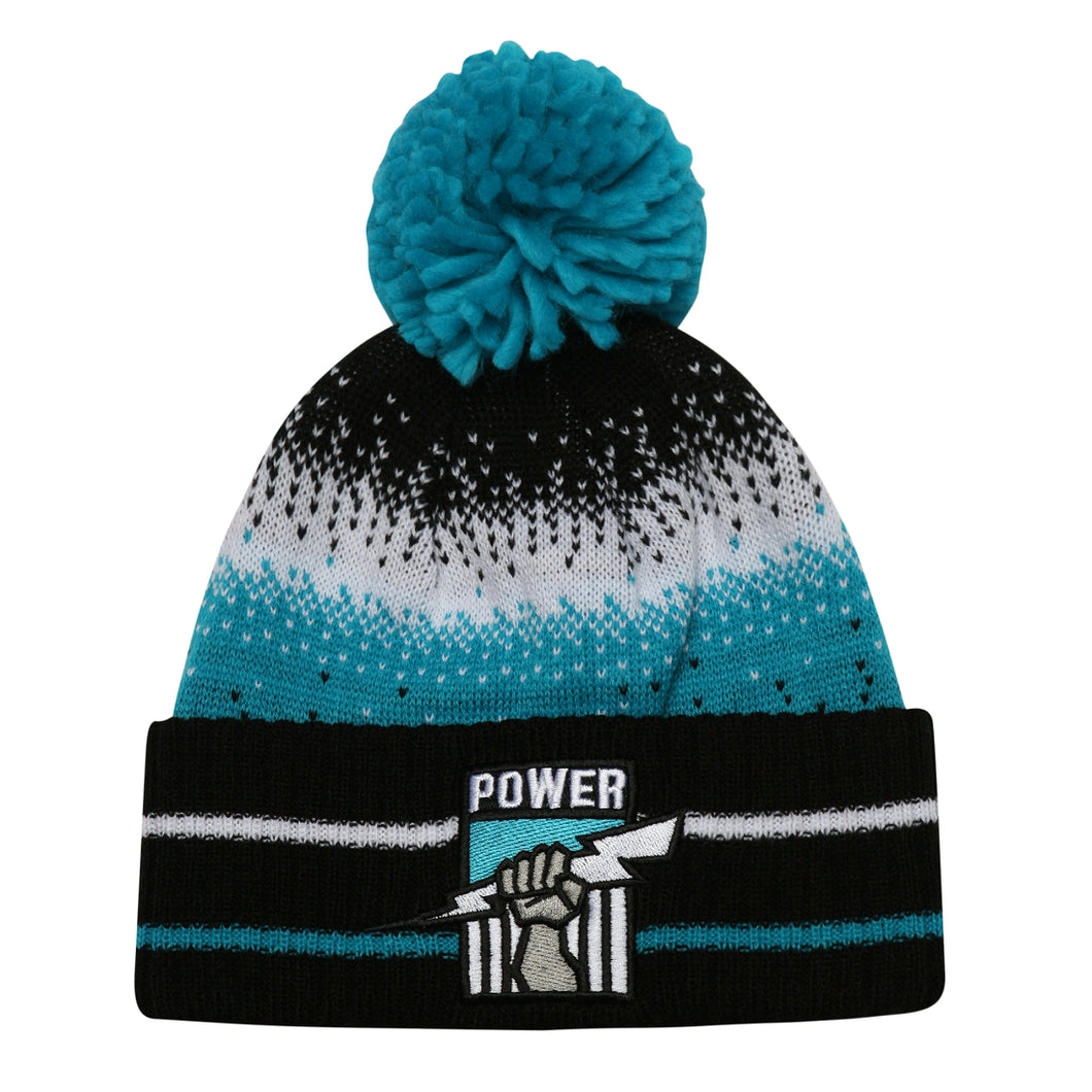 Port Adelaide Power Official AFL Team Logo Youth Supporter Beanie