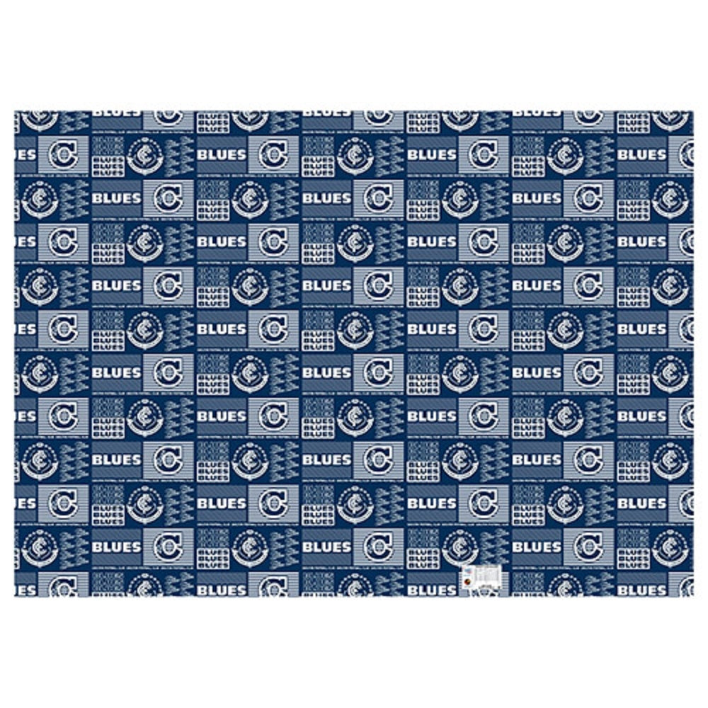 Carlton Blues Official AFL Wrapping Paper Giftwrap Birthday