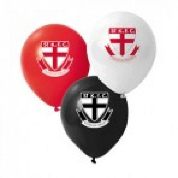 St Kilda Saints Official AFL x 6 Balloons Double Sided Print