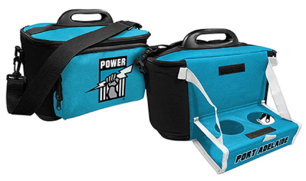 Port Adelaide Power Insulated Cooler Bag with Tray Official AFL Work Picnic