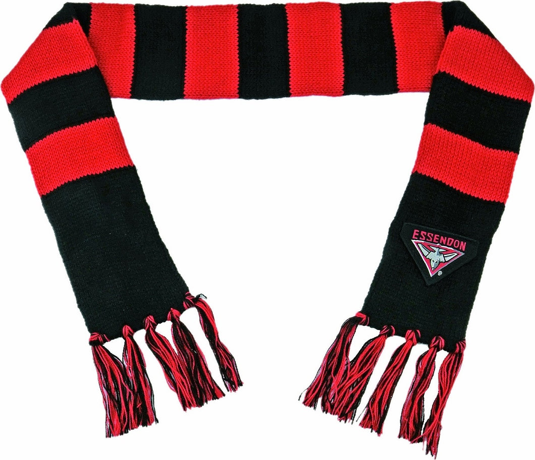Essendon Bombers Official AFL Chunky Knit Baby Infant Winter Scarf