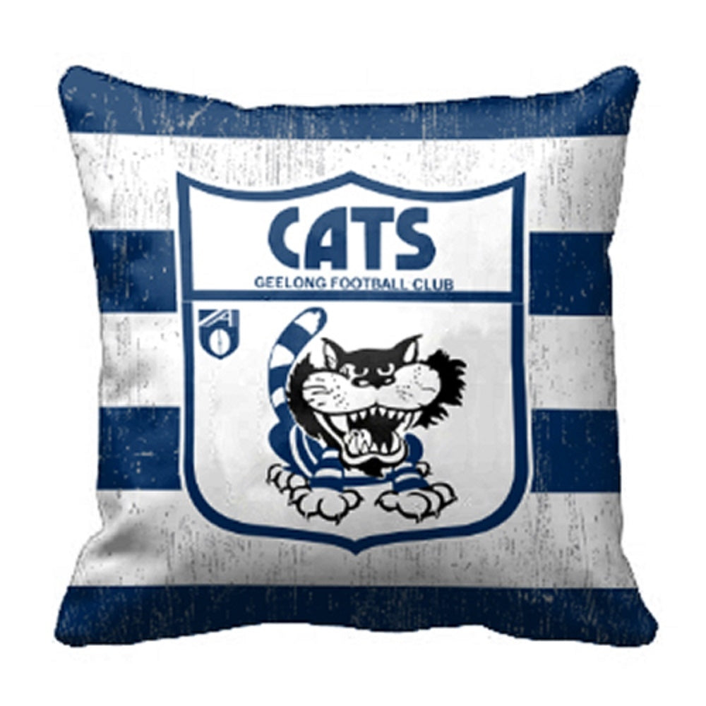 Geelong Cats Official AFL 1st 18 Cushion Indoor Outdoor Canvas