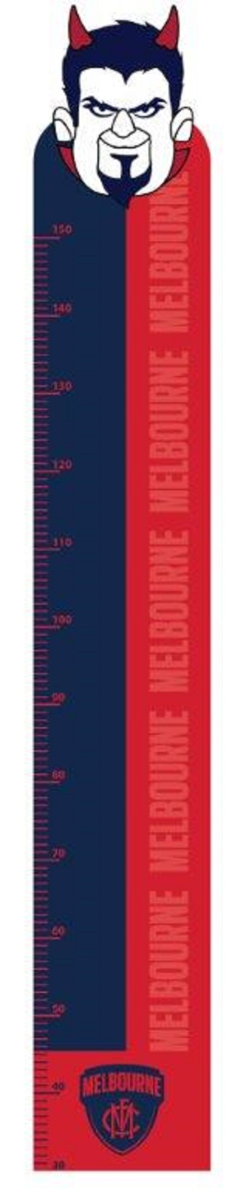 Melbourne Demons Official AFL Mascot Growth Height Chart
