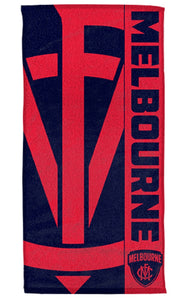 Melbourne Demons Official AFL Beach Bath Towel