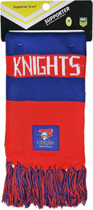 Newcastle Knights Official NRL Supporter Traditional Knitted Bar Scarf
