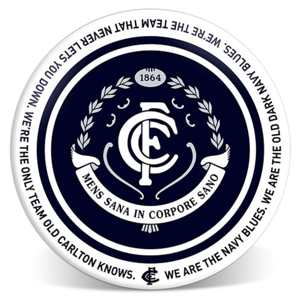 Carlton Blues Official AFL Melamine Dinner Plate 20cm