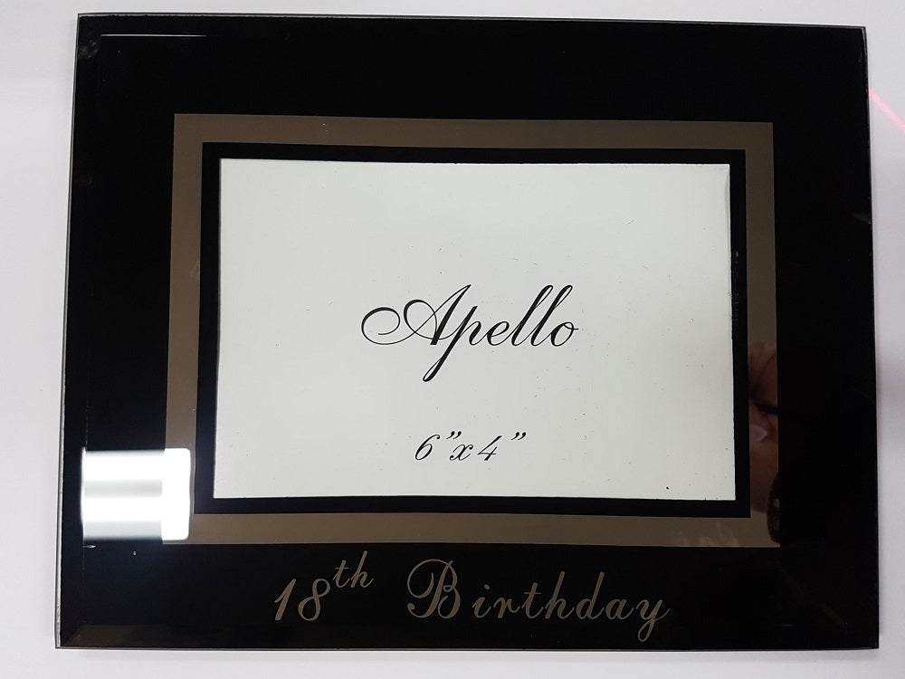 18th Birthday Photo Frame for 6x4 Photos Glass Free Standing