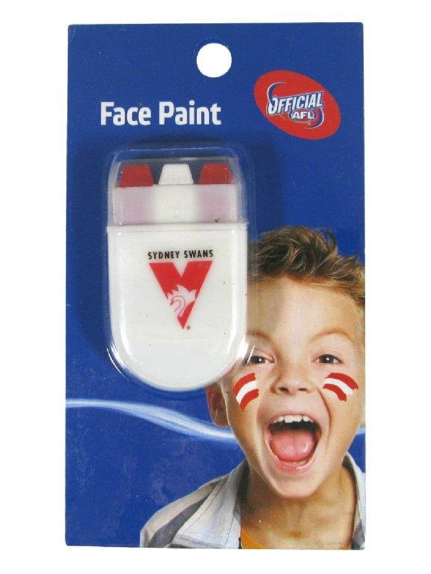 Sydney Swans Official AFL Stick Face Paint Team Colour Stripes