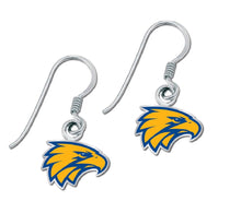 Load image into Gallery viewer, West Coast Eagles Earrings Official AFL Team Colours Logo Jewellery