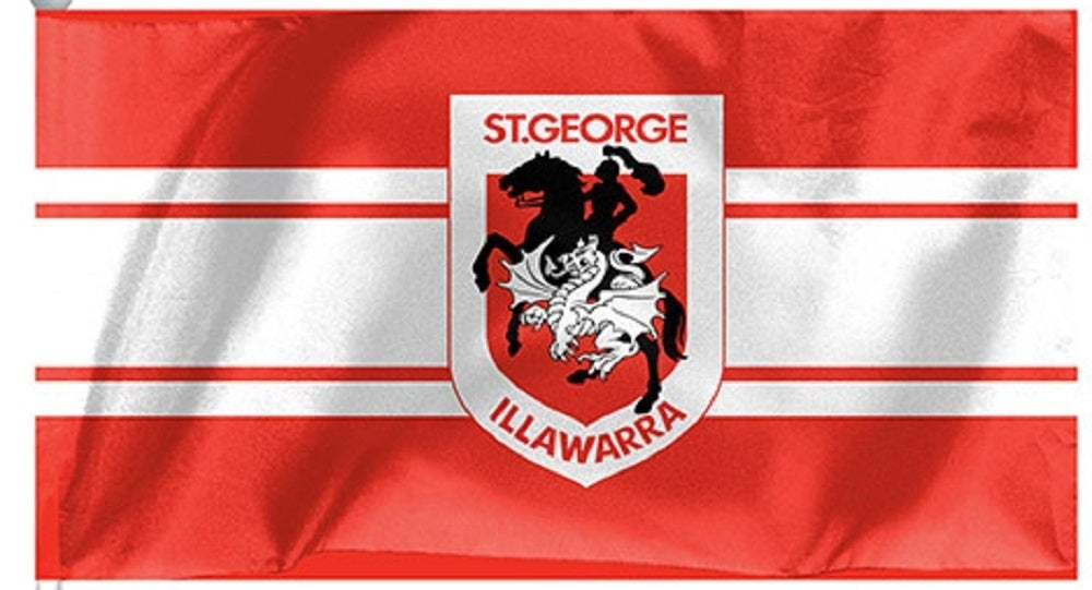St George Illawarra Dragons NRL Official Medium Team Flag