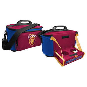 Brisbane Lions Insulated Cooler Bag with Tray Official AFL Work Picnic