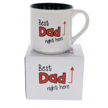 Load image into Gallery viewer, Best Dad Right Here Novelty Ceramic Mug Fathers Day Kris Kringle
