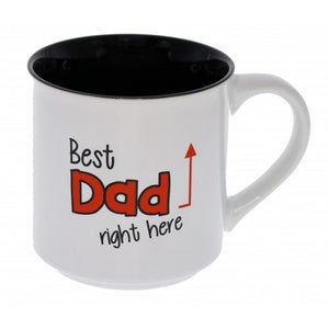 Best Dad Right Here Novelty Ceramic Mug Fathers Day Kris Kringle