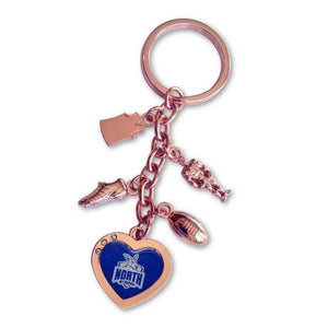 North Melbourne Kangaroos Official AFL Charm Keyring Mothers Day