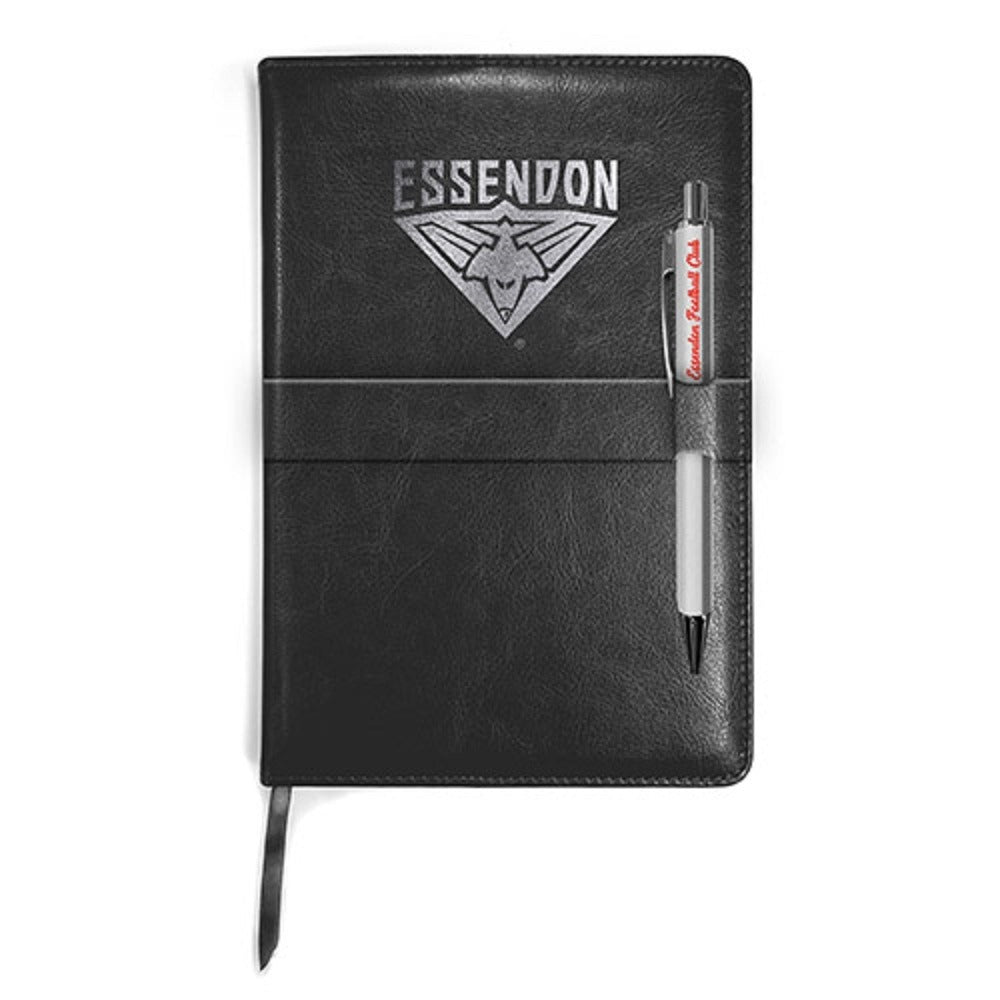 Essendon Bombers Official AFL Logo Notebook and Pen Gift