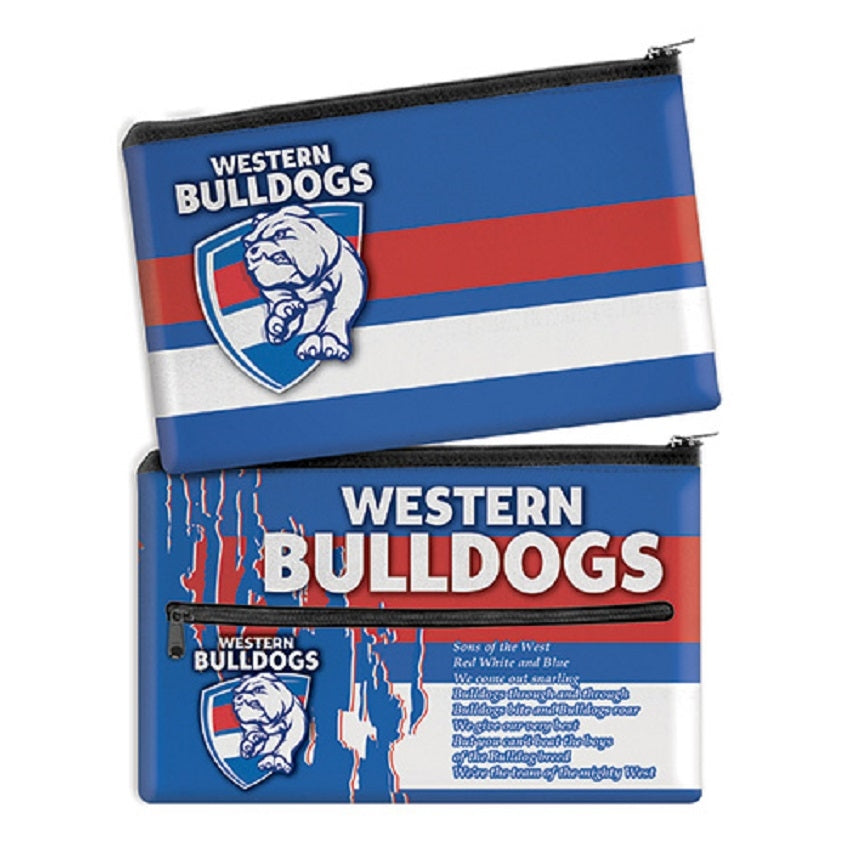 Western Bulldogs Official AFL Neoprene Team Song Pencil Case