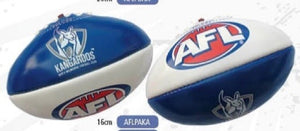 North Melbourne Kangaroos Official AFL PVC 16cm Small Football By Burley