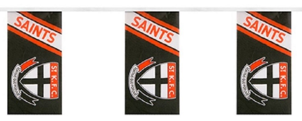 St Kilda Saints Official AFL Team Bunting 5 Metres Polyester