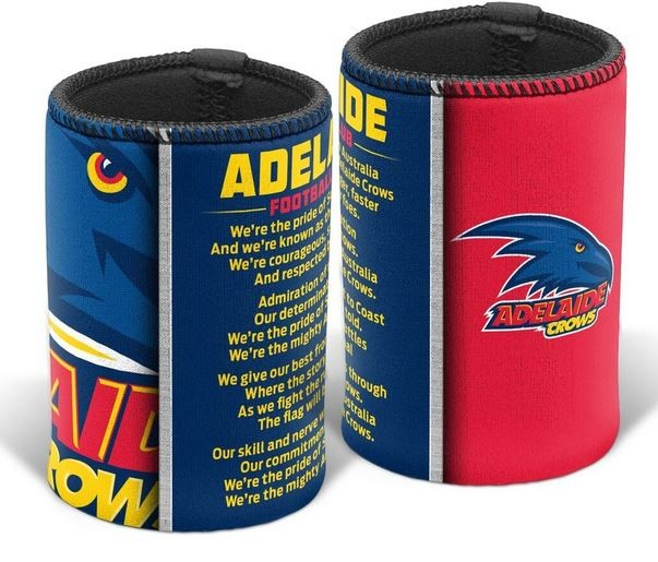 Adelaide Crows Official AFL Team Song Can Cooler Stubby Holder