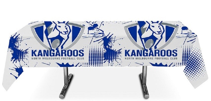 North Melbourne Kangaroos Official AFL Plastic Tablecloth Table Cover