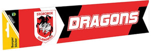 St George Illawarra Dragons Official NRL Team Logo Bumper Sticker