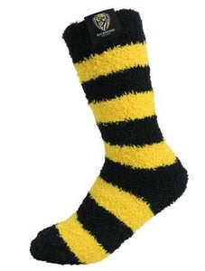 Richmond Tigers Official AFL Adult & Youth Comfy Bed Socks