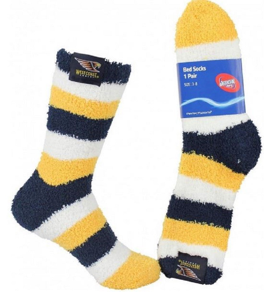 West Coast Eagles Official AFL Adults & Youth Comfy Bed Socks