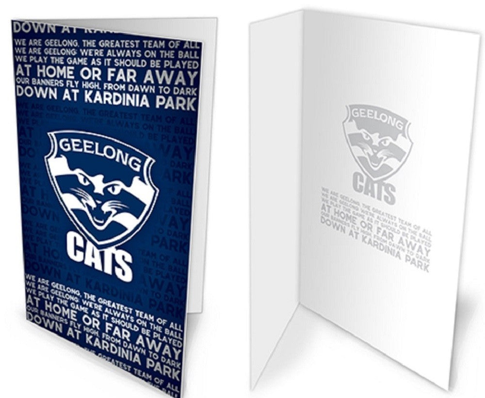 Geelong Cats Official AFL Musical Team Song Greeting Card