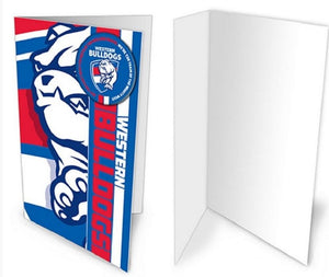 Western Bulldogs Official AFL Greeting Card with Pin On Badge