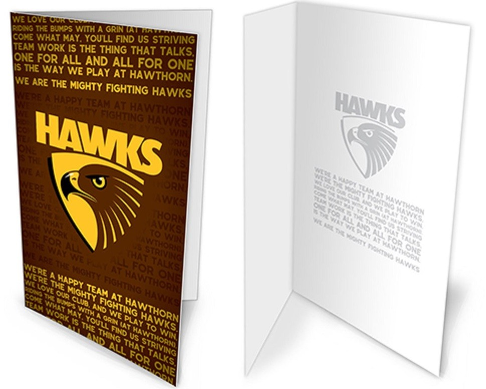 Hawthorn Hawks Official AFL Musical Team Song Greeting Card