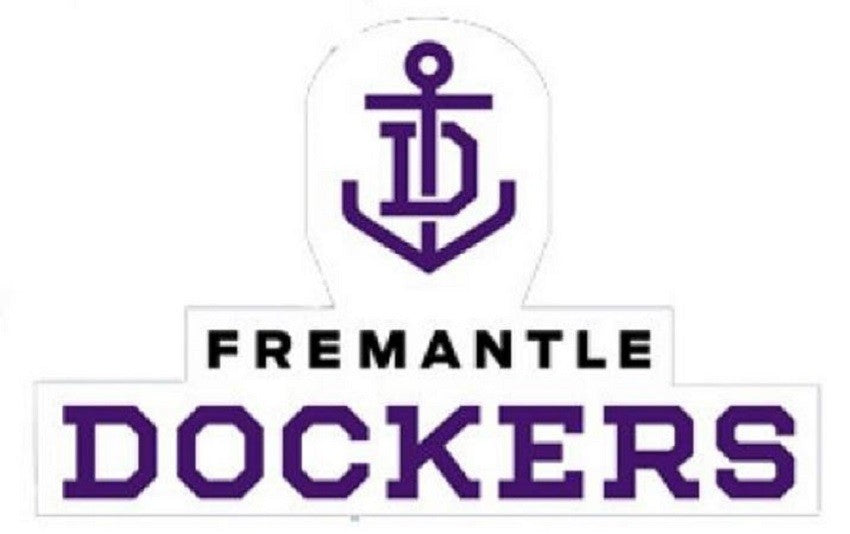 Fremantle Dockers Logo Static Cling Car Reverse Decal Sticker Official AFL