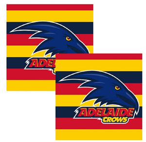 Adelaide Crows Official AFL Full Colour Paper Serviettes Napkins 16 pack
