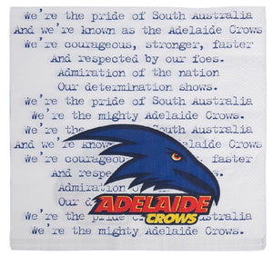 Adelaide Crows Official AFL Paper Serviettes Napkins 20 pack Licensed