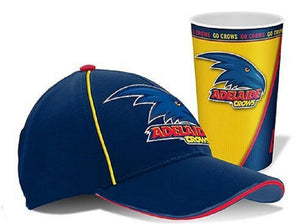 Adelaide Crows Official AFL Cap & Lenticular Tumbler Pack