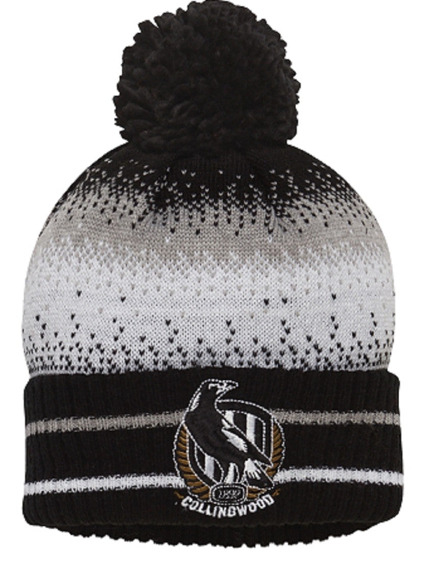 Collingwood Magpies Logo Official AFL Youth Supporter Winter Beanie