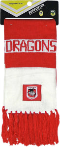 St George Illawarra Official NRL Supporter Traditional Knitted Bar Scarf