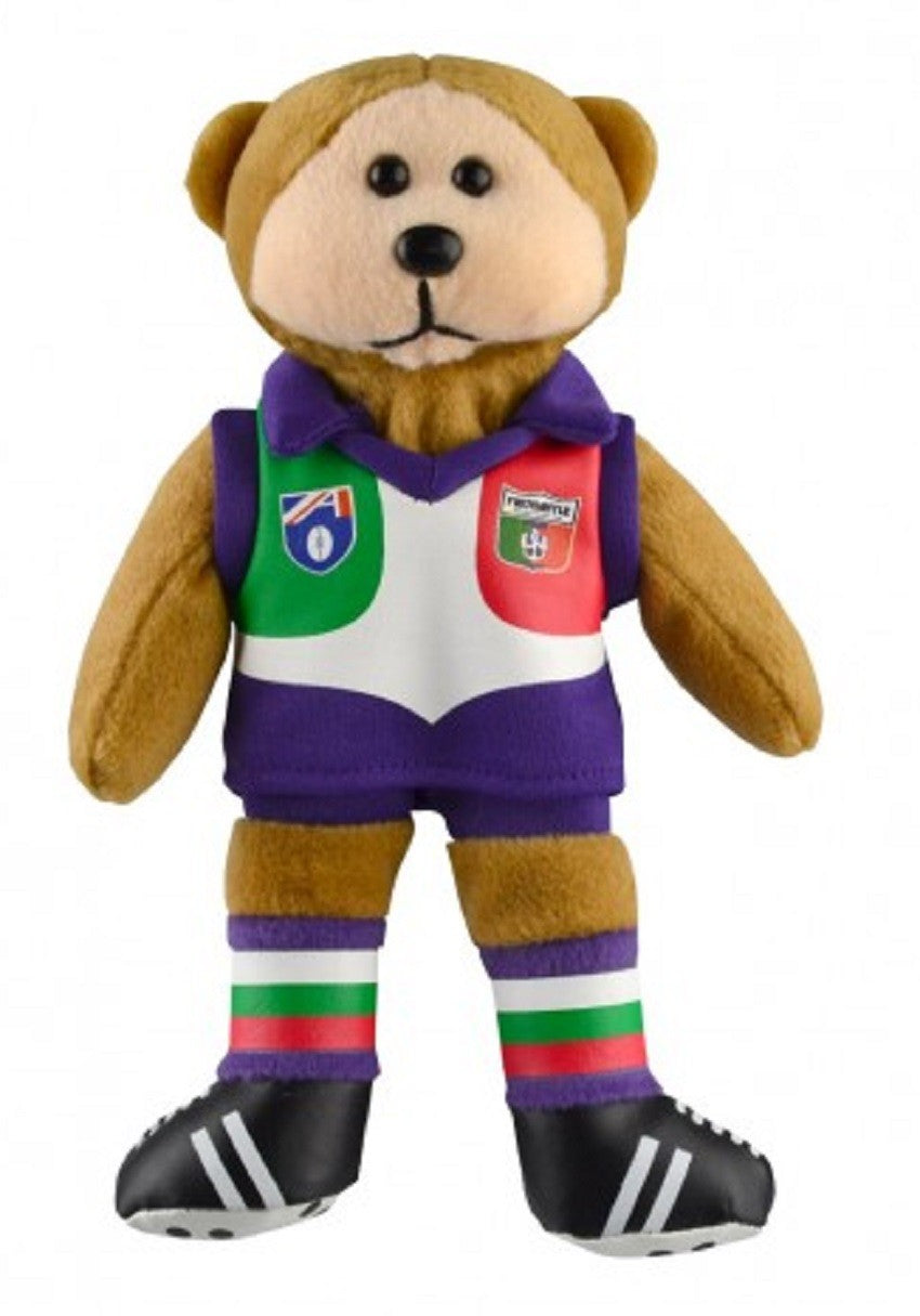 Fremantle Dockers Heritage Player Bear Official AFL Beanie Kid 21cm Collectable