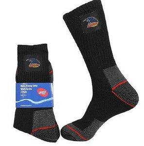 Adelaide Crows Official AFL Tradesmens Work Socks - 2 pairs