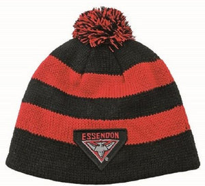 Essendon Bombers Official AFL Chunky Knit Baby Infant Beanie