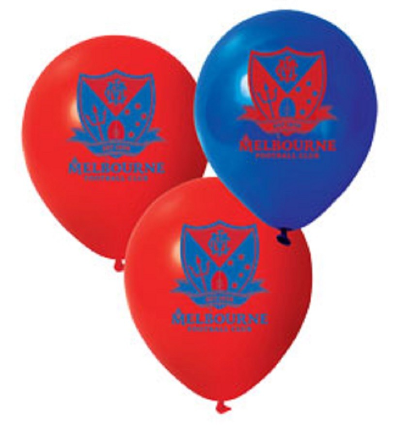 Melbourne Demons Official AFL x 6 Balloons Double Sided